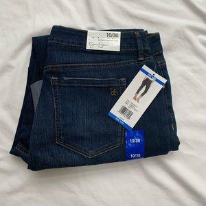 Jessica Simpson mid rise straight cuff jeans Sz 10